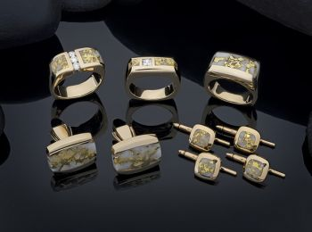 Steve Schmier's Jewelry, California Gold Bearing Quartz