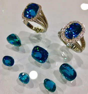 Steve Schmier's Jewelry, Blue Zircon Rings
