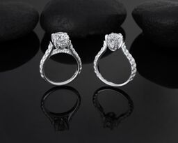 Steve Schmier's Jewelry, Diamond Cathedral Rings