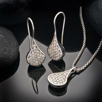 Steve Schmier's Jewelry, The Pod - Diamond Earrings and Necklace