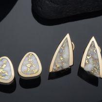 Steve Schmier's Jewelry, California Gold Bearing Quartz Earings