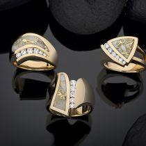 Steve Schmier's Jewelry, California Gold Bearing Quartz Ladies Rings