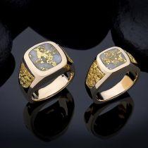 Steve Schmier's Jewelry, California Gold Bearing Quartz Men's Rings
